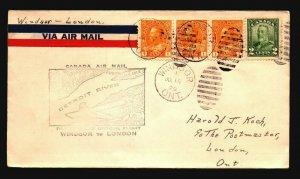 Canada 1929 FFC Windsor to London - Z17513