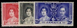 JAMAICA GVI SG118-120, CORONATION set, M MINT.