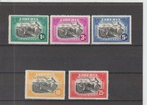 Liberia  Scott#  301-304, C57  MH  (1947 Matilda Newport)