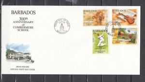 Barbados, Scott cat. 896-899. School issue. Scouts & Cricket. First day cover.