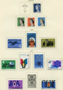 AUSTRALIA  SELECTION OF 1935/67  ISSUES MINT NEVER HINGED  AS SHOWN