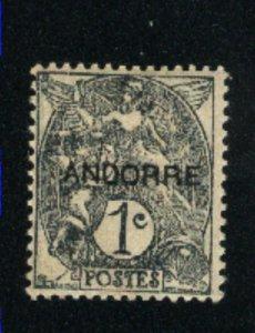 Andorra #1   Mint VF 1931 PD