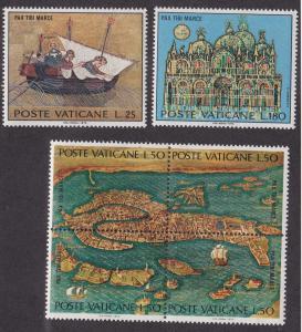 Vatican City # 518-520, Map of Venice, NH, 1/2 Cat.