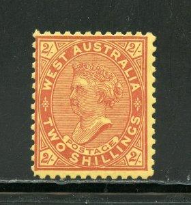 WEST AUSTRALIA SCOTT #84d PERF 11 SG #134  MINT HINGED--SCOTT $350.00 SG 300pds