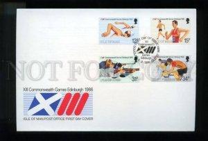 161440 ISLE OF MAN 1986 XIII Commonwealth Games Edinburgh FDC