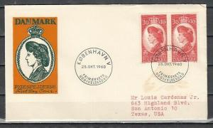 Denmark, Scott cat. B28. Queen as a Girl Scout issue on a First day cover.