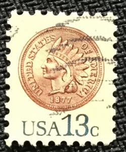 US #1734 Used Single Indian Head Penny SCV $.25