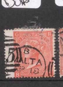 Malta Gb Used SG Z49 Plate 12 Copy Two VFU (5del)