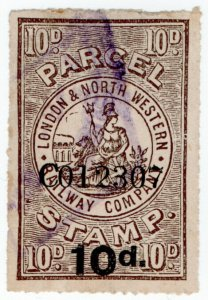 (I.B) London & North Western Railway : Parcel Stamp 10d
