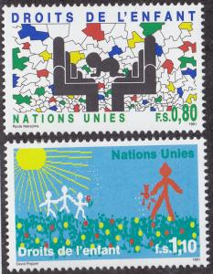 UN GENEVA MNH Scott # 203-204 Rights of the Children (2 Stamps) (2)