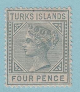 Turks Islands 50 Mint Hinged OG - No Faults Very Fine