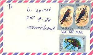 Saint Lucia 5c St. Lucia Parrot and 10c American Kestrel (2) 1976 La Pointe, ...