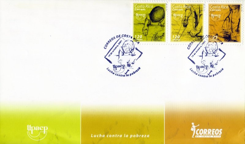 COSTA RICA UPAEP FIGHT AGAINST POVERTY Sc 587 FDC 2005