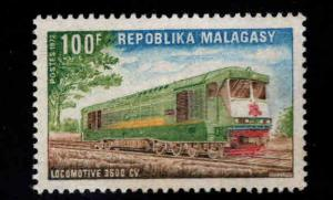 Madagascar Malagasy Scott 472 MH* 1972   Locomotive stamp
