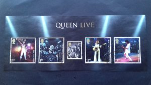 Great Britain 2020 Queen - Band Members Performing Onstage Used