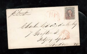 USA #37 Used Fine - Very Fine On Cover To London **With Certificate**