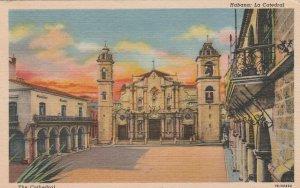 Cuba Postcard Havana Cathedral Unused  Vintage