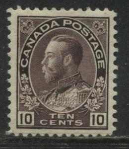 Canada KGV Admiral 10 cents plum mint o.g.