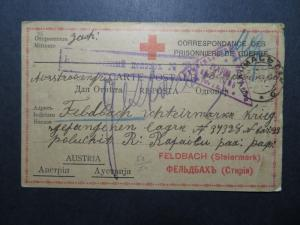 Serbia WWI POW Card to Ausitra / Light Creasing - Z11326