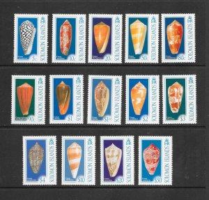 SHELLS - SOLOMON ISLANDS #1070-83 MNH