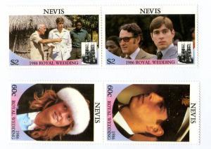 NEVIS 498-9 MNH PAIR SCV $1.65 BIN $1.00