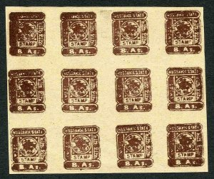 Bussahir 8a in Brown Sheet of 12 Forgeries