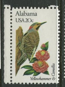 USA - Scott 1953 - State Birds & Flowers - 1982 - MNG - Single 20c Stamp
