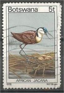 BOTSWANA, 1978, used 5t, Birds. Scott 202