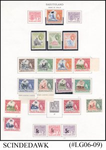 BASUTOLAND - 1956-61 SELECTED STAMPS OF QEII OVPT SURCHARGED - 22V MINT HINGED