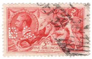 (I.B) George V Commercial Perfin : SG 401 (B Q)