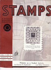 Stamps Weekly Magazine of Philately June 2, 1934 Stamp Collecting Magazine