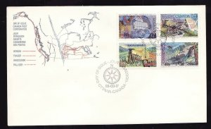 Canada-Sc#1202a-stamps on FDC-Explorations-1988-