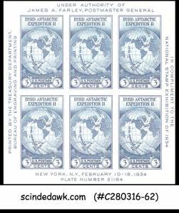 USA - 1934 NATIONAL STAMP EXHIBITION SCOTT#735 - SOUVENIR SHEET MINT NH