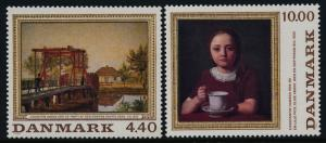 Denmark 881-2 MNH Art Paintings, Bridge