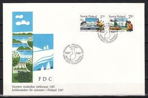 Finland, Scott cat. 748-749. Tourism issue. Skiing shown. First Day Cover. ^