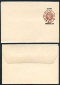 British Bechuanaland O/P on QV 1d Brown Newspaper Wrapper Mint