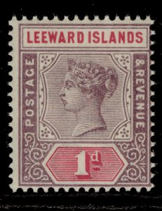 LEEWARD ISLANDS QV SG2, 1d dull mauve and rose, NH MINT.
