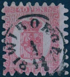Finland Sc10 I  Serpentine Roulette 40 Pen WIBORG 1874 Used 82820