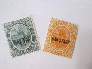 Saint Kitts and Nevis #MR1-MR2 MH 2019 SCV = $2.50