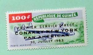 Guinea - C52, MNH. Plane Ovpt. SCV - $1.60
