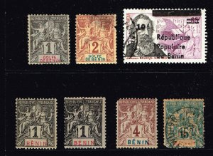 FRANCE STAMP BENIN STAMP COLLECTION LOT