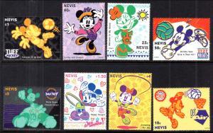 Nevis 829-836 Disney's MNH VF