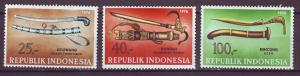 J21078 Jlstamps 1976 indonesia set mh #982-4 daggers etc