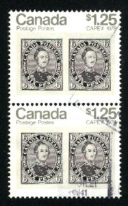 Canada 756   Pair  used  1978 PD