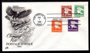 US 2112 D Eagle Coil Combo Artcraft U/A FDC