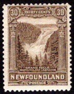 151, NSSC, Newfoundland, 30c, VG/F, MNHOG, 1st Pict, Grand Falls, Scott 159