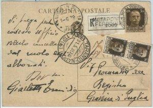 71805 - ITALIA REGNO  storia postale - INTERO spedito RACCOMANDATA da METAPONTE