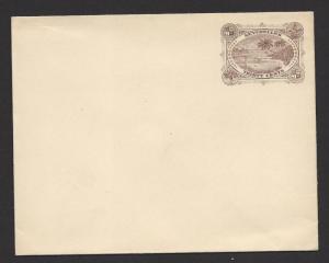 SEYCHELLES 1895 30c Brown TORTOISE / PALM TREE Postal Stationery Envelope Unused