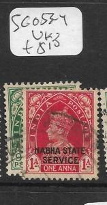 INDIA  NABHA  (PP1305B)  KGVI   SG O53-4  VFU