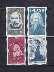 Iceland 481-484 Set MH Famous People (A)